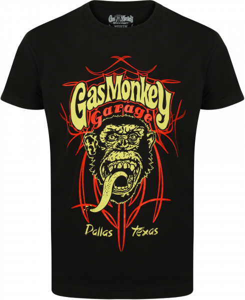 Gas Monkey Garage T-Shirt Pinstripe II Black