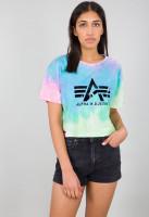 Alpha Industries Damen T-Shirt Big A Batik T Women Blue Batik