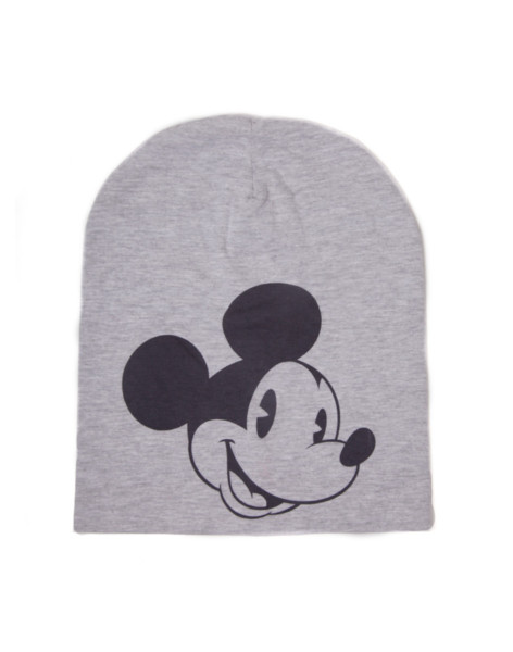 Mickey Mouse Beanies Disney - Mickey Mouse Water Print Melange Summer Beanie Grey