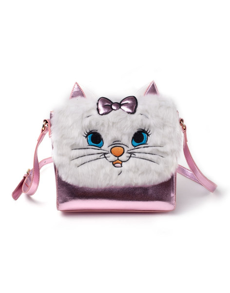 Marie Handbags Disney - Marie Shoulder Bag With Furry Flap Pink