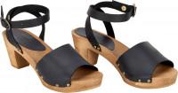 Sanita Clogs Damen Sandalen Wood-Yara Square Flex Sandal Black