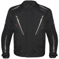 Germot Herren Motorrad Jacke Textiljacke Spencer Evo Big Size Schwarz/Grau