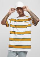 Starter Black Label T-Shirt Starter Logo Striped Tee White/Yellow