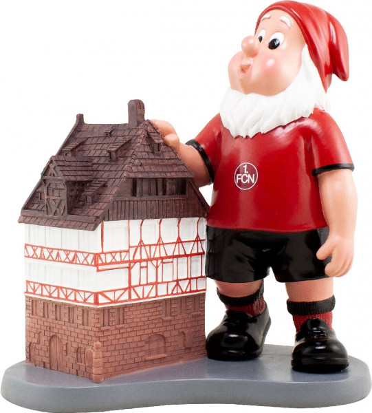 1. FC Nürnberg Gartenzwerg Albrecht Dürer-Haus Fussball 2. Bundesliga Red