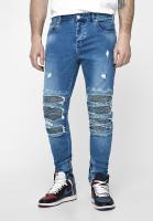 Cayler & Sons Hose ALLDD Inverted Biker Ian Denim Pants Mid Blue