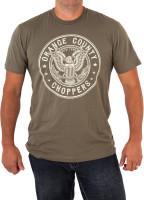 OCC Orange County Choppers T-Shirt Men's Eagle Graphic Green
