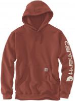 Carhartt Sweatshirt Sleeve Logo Hooded Auburn Heather