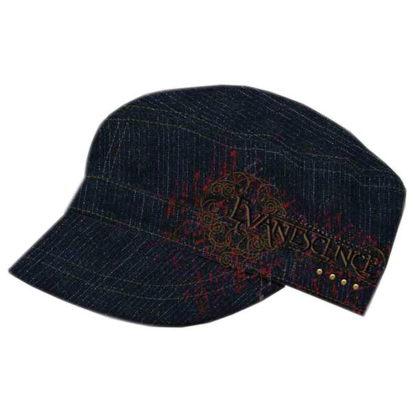 Evanescance Cap Black Cadet w/ EMB Logo Red Prin Black