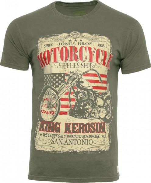 King Kerosin T-Shirt San Antonio Oliv