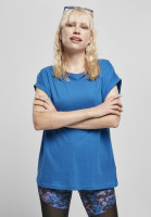 Urban Classics Damen T-Shirt Ladies Extended Shoulder Tee Sporty Blue