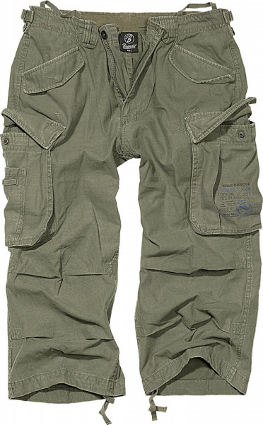 Brandit Shorts Industry Vintage 3/4 in Olive