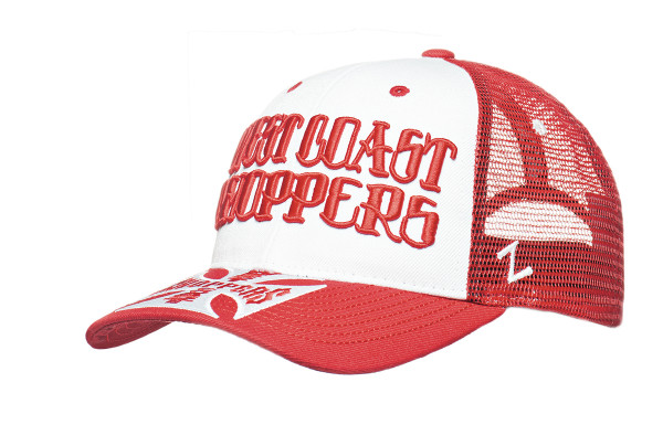 WCC West Coast Choppers Cap Round Snapback Trucker Red