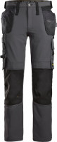 Snickers Workwear AllroundWork Full Stretch Trousers HP Stahlgrau/Schwarz