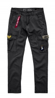 Alpha Industries Petrol Patch Pant Shorts / Hose Greyblack