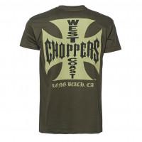 WCC West Coast Choppers T-Shirt Iron Cross Solid Khaki