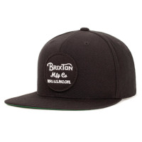 Brixton Cap Wheeler Snapback Black