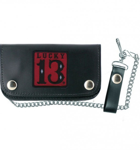 Lucky 13 Wallet Portemonnaie Red Patch Wallet Black