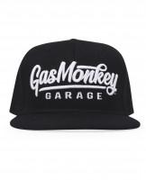 Gas Monkey Garage Cap Snap-Back 3D Script Logo Black