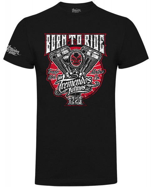 Los Tremendos Latinos T-Shirt Born to Ride Black