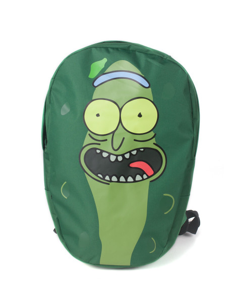 Rick and Morty Rucksack Rick and Morty - Pickle Rick Shaped Backpack Green