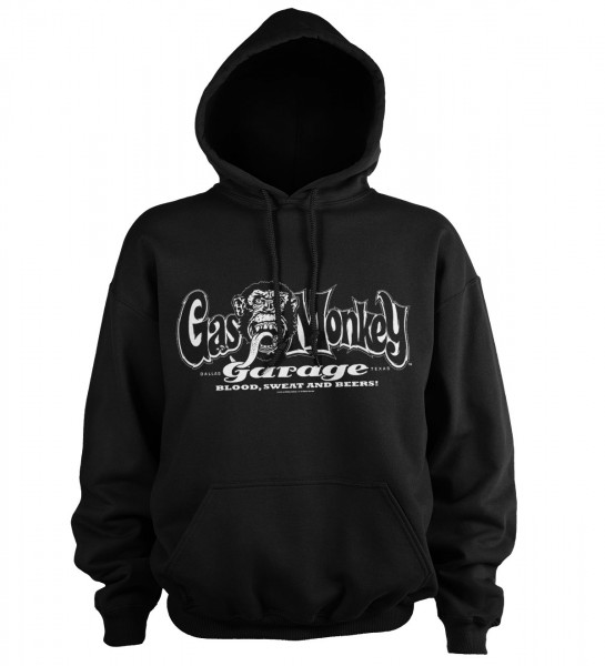 Gas Monkey Garage Hoodie White Logo Black