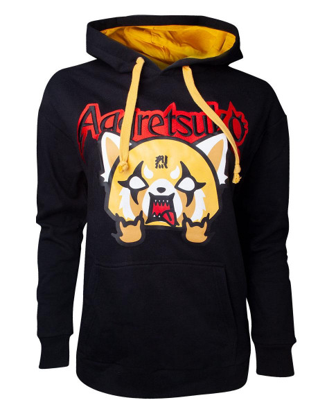 Aggretsuko - Aggretsuko Embroidered Women's Sweater Black