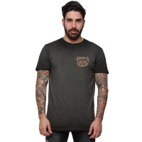 Lucky 13 T-Shirt Amped Tee Washed Black