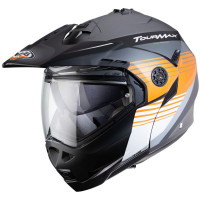 Caberg Motorrad Klapphelm Tourmax Titan Matt Gun/Orange-Weiß