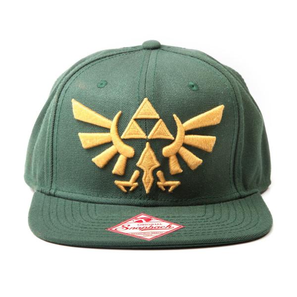 The Legend of Zelda Cap Twilight Princess, Snapback With Golden Triforce Logo Green