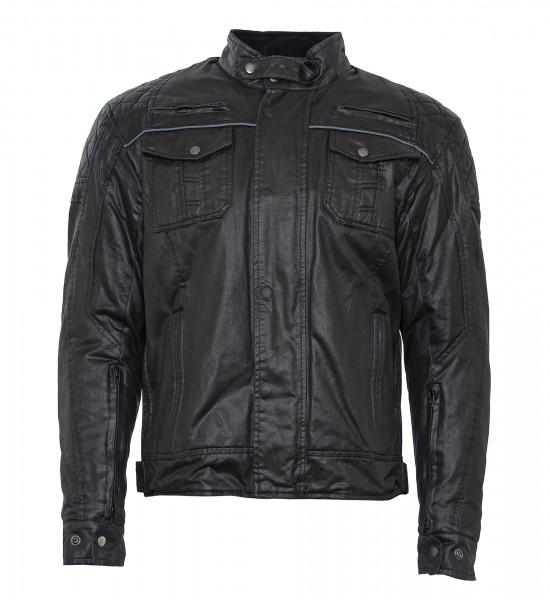 Bores Jacket Alfredo Herren Wachsjacke kurz Black