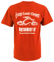 OCC Orange County Choppers T-Shirt Montgomery Arc Logo Red