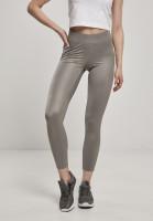 Urban Classics Damen Leggings Ladies Imitation Leather Leggings Asphalt