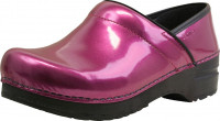 Sanita Clogs Damen Sandalen Original-Prof. Patent Purple metallic