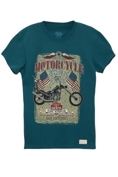 King Kerosin T-Shirt Born To Be Free Blue