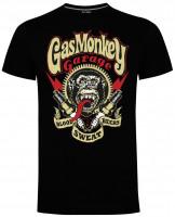Gas Monkey Garage T-Shirt Sparkplugs Black