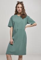 Urban Classics Damen Kleid Ladies Organic Oversized Slit Tee Dress Paleleaf