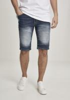 Southpole Trousers Biker Denim Shorts Dark Sand Blue