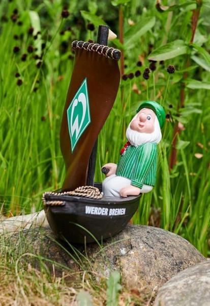 SV Werder Bremen Gartenzwerg Torfkahn Fussball 1. Bundesliga Green