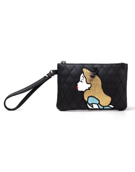 Disney Alice In Wonderland Alice Ladies Pouch Wallet Black
