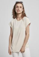 Urban Classics Damen T-Shirt Ladies Modal Extended Shoulder Tee Whitesand