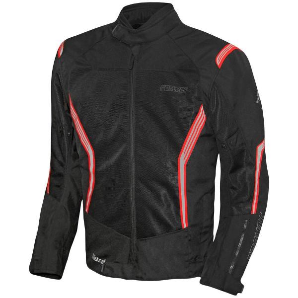 Germot Herren Motorrad Jacke Textiljacke Mistral Schwarz/Rot