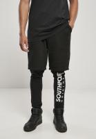 Southpole Fleece Shorts With Leggings Black