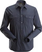 Snickers Workwear LiteWork langarm Shirt Navy