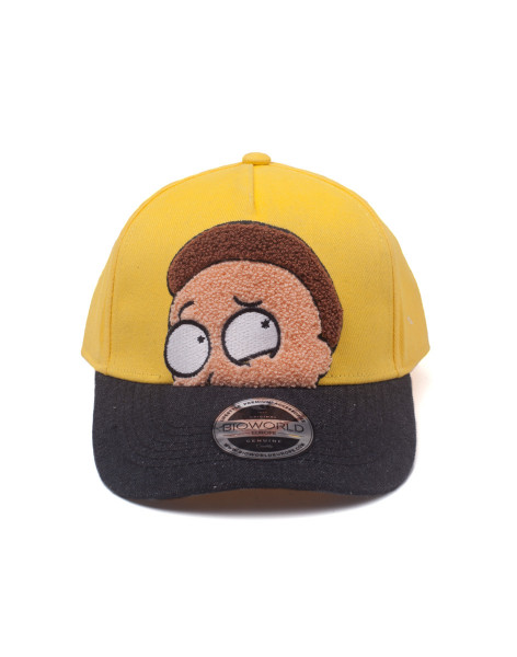 Rick and Morty Cap Morty Chenille Flat Embroidery Curved Bill Yellow