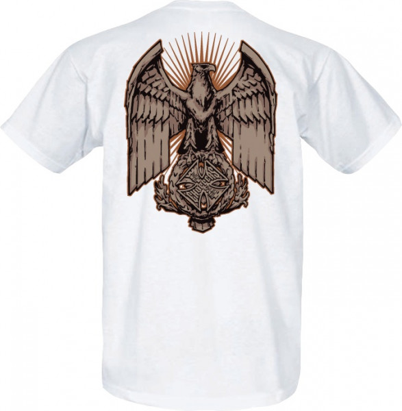 WCC West Coast Choppers T-Shirt Eagle Chest weiss