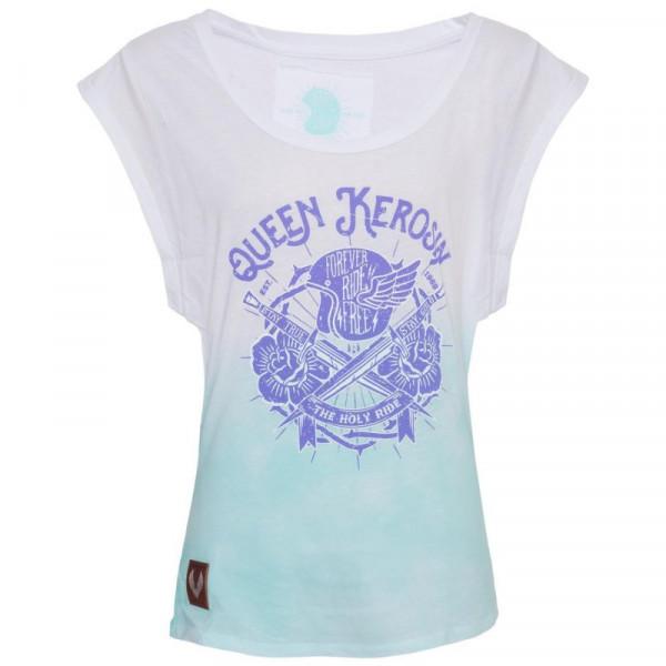 King Kerosin Female Shirt Dip Dye Shirt The Holy Ride White