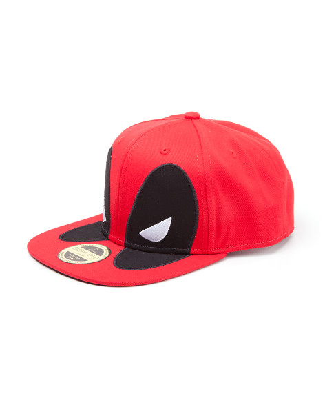 Deadpool Classic Style Guide Cap Big Face Snapback Red