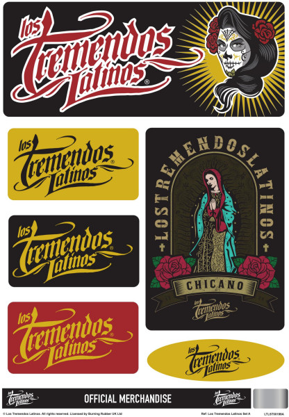 Los Tremendos Latinos Sticker Set A4 Sheet