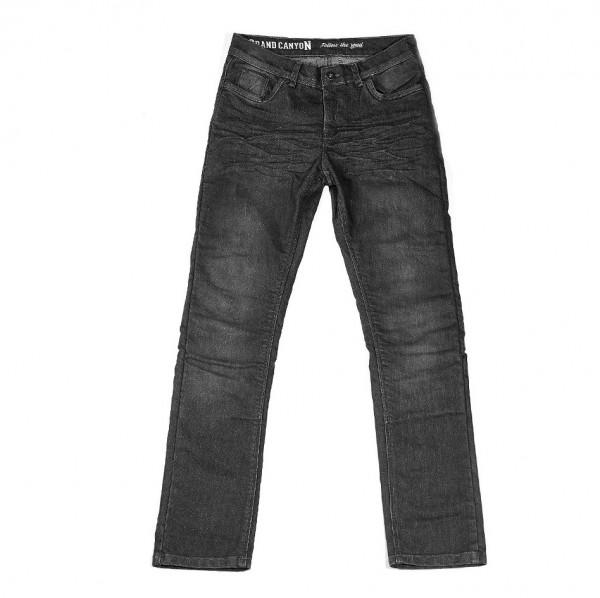 Grand Canyon Motorrad Hose Trigger Jeans Lang Black