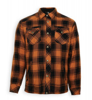 Bores Lumberjack Jacken-Hemd in Holzfäller Optik Orange/Black